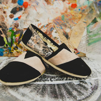 Vintage Sheet Music Custom TOMS by rtothesecondpower on Etsy