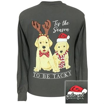 Girlie Girl Originals Preppy Christmas Labs Holiday Long Sleeve T-Shirt