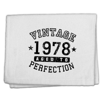 "40th Birthday Vintage Birth Year 1978 11""x18"" Dish Fingertip Towel by TooLoud"