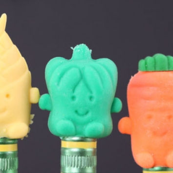 Veggie Pencil Toppers with Carrot