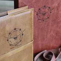 Phases of the Moon Leather Journal