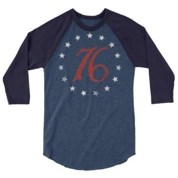 Spirit of 76  3/4 sleeve raglan shirt