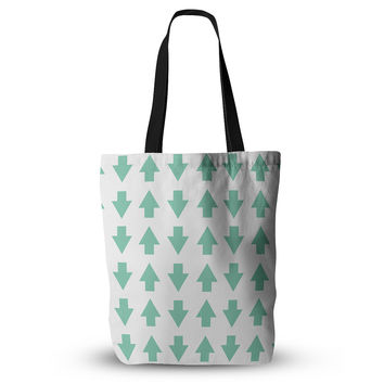 """Project M """"Arrows Up and Down Mint"""" Everything Tote Bag"""
