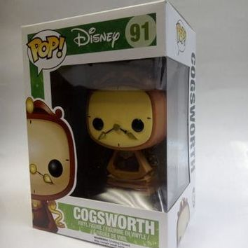 Funko POP Disney Cogsworth Vinyl Figure #91