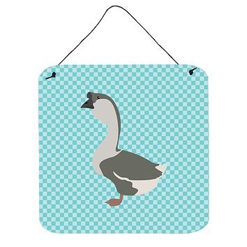African Goose Blue Check Wall or Door Hanging Prints BB8073DS66