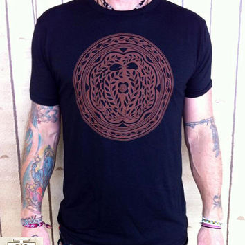 Serpent Tree  / mens clothing/ Unisex / ayahuasca / DMT /  Hand Screen printed / Festival Shirt / Psy shirt / hippie shirt /