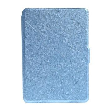 Ultra Slim Faux Leather Folio Flip Case Protective Shell Skin Cover For Amazon Kindle size 6