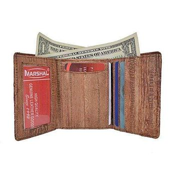 Men's Waterproof Eel Skin Slim Credit Card ID Holder Trifold Wallet