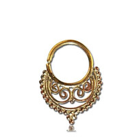 Beautiful Brass Septum For Pierced Nose - Body Jewelry - Septum Jewelry - Indian Nose Ring - Ethnic Septum - Septum Piercing - Nose Jewelry