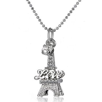 Eiffel Tower Clavicle Necklace