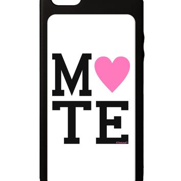 Matching Soulmate Design - Mate - Pink iPhone 5C Grip Case  by TooLoud