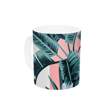 "Kess Original ""Monstera"" Nature Pop Art Ceramic Coffee Mug"