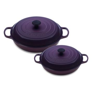 Le Creuset® Enameled Cast Iron Braisers in Cassis