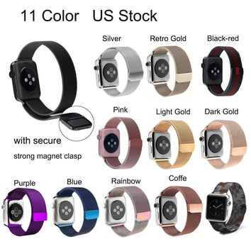 New Magnetic Milanese Stainless Steel Strap Band for Apple Watch Series 3/2/1