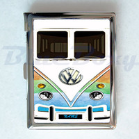Mini Bus Pastel Cigarette Case with Lighter, Cigarette Box, Card Holder