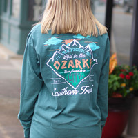 Lost in the Ozarks Long Sleeve Tee {Blue Spruce}