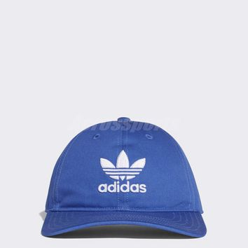 adidas Unisex Originals Trefoil Classic Cap Sports Running Hat Blue White BK7271