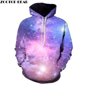 Brand Galaxy 3D Hoodies Men Women Sweatshirts Large Hooded Outwear Printed Fashion Jackets Hooded Tracksuits Male ZOOTOP BEAR