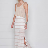 Magalie Two-In-One Maxi Dress- Mojave Stripe