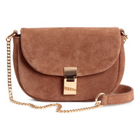 Suede shoulder bag - Light brown - Ladies | H&M GB