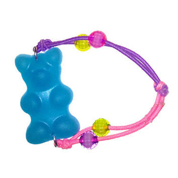 KanDi Jewelry Giant Blue Gummy Bear Hair Tie/Bracelet