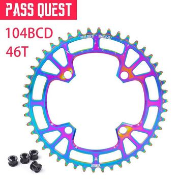 PASS QUEST wheel wide narrow wheel crown pinion 104 BCD MTB mountain bike bicycle 36 T 40 T 42 T 48 T dental plaque titanizing
