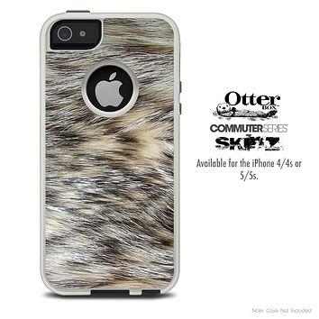 The Animal Fur Skin For The iPhone 4-4s or 5-5s Otterbox Commuter Case