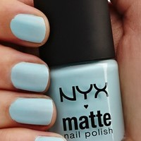 NYX Cosmetics Matte Nail Polish, Mint, 1.76 Ounce:Amazon:Beauty