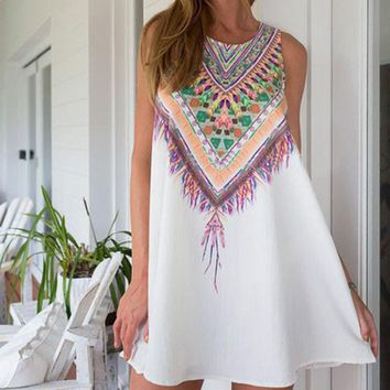women Summer Dress Bohemian Beach Dress Flamingos Sundresses Women Dress Dashiki Hippie Boho Vestidos Large Size designer clothes