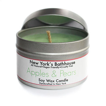 Apples & Pears Soy Wax Tin Candle