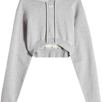Cropped Cotton Hoodie - Off-White | WOMEN | AU STYLEBOP.COM