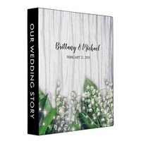 Rustic Lily of the Valley Wedding Story Album 3 Ring Binder