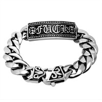 Great Deal Hot Sale Gift New Arrival Shiny Awesome Stylish Titanium Strong Character Fashion Accessory Bracelet [6542667779]