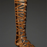 Knee-High Gladiator Sandals