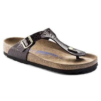 Birkenstock Gizeh Soft Footbed Birko Flor Myda Wine 1006622 Sandals