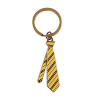 Universal Studios Wizarding World of Harry Potter Hufflepuff Tie Keychain New