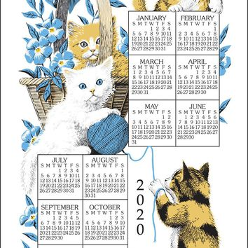 Calendar Towel 2020 - Curious Kittens