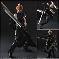 PlayArts KAI Final Fantasy VII Cloud Strife PVC Action Figure Collectible Model Toy 26cm