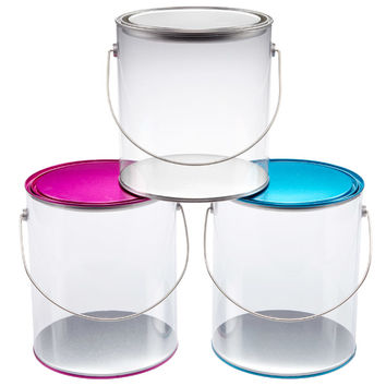 Large Clear Paint Can