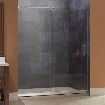 DreamLine Mirage 44 in. to 48 in. x 72 in. Semi-Framed Sliding Shower Door in Brushed Nickel-SHDR-19487210-04 - The Home Depot