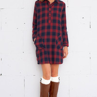 Cupshe Leave You Breathless Plaid Shirt Dress