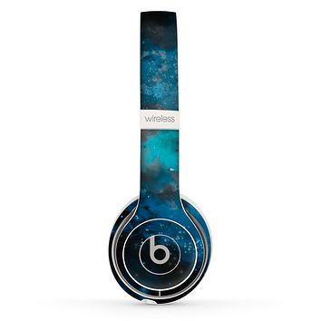 The Blue and Teal Painted Universe Skin Set for the Beats by Dre Solo 2 Wireless Headphones