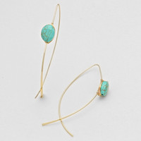 French Hook Turquoise Earrings