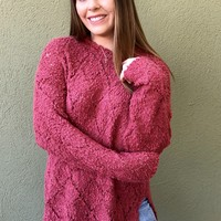 Get Cozy Sweater - Rose
