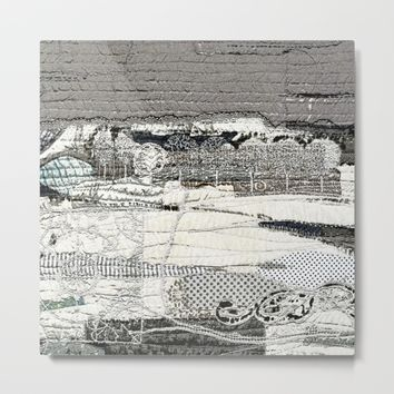Winter landscape Metal Print by Bozena Wojtaszek