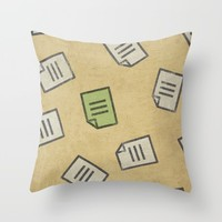 Message Throw Pillow by Sinonelineman