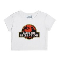 Jurassic Parks and Rec-Female Snow T-Shirt