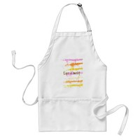 Life is messy Abstract Dripping Paint Stripes Adult Apron