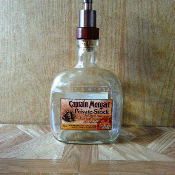 Captain Morgan's Private Stock Soap Dispenser - Made from Recycled Bottles
