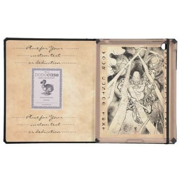 Cool classic vintage japanese demon ink tattoo iPad case from Zazzle.com